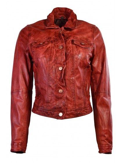 Fake Red Denim Jacket