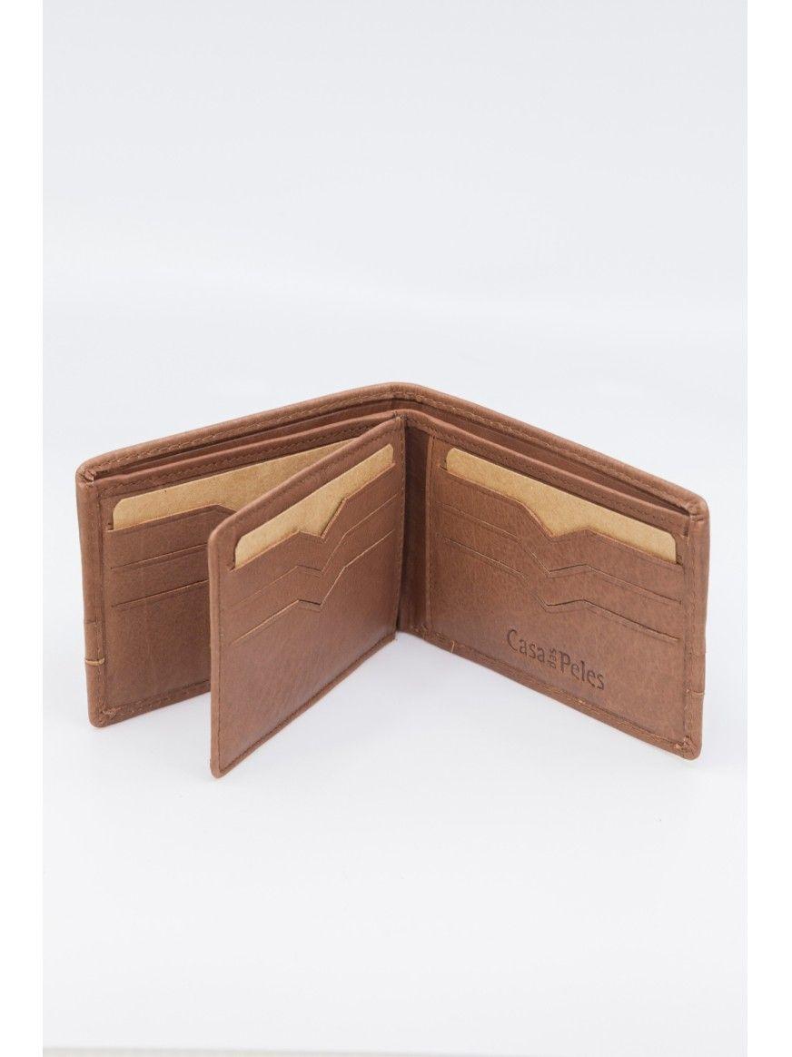 Porta cartões em pele