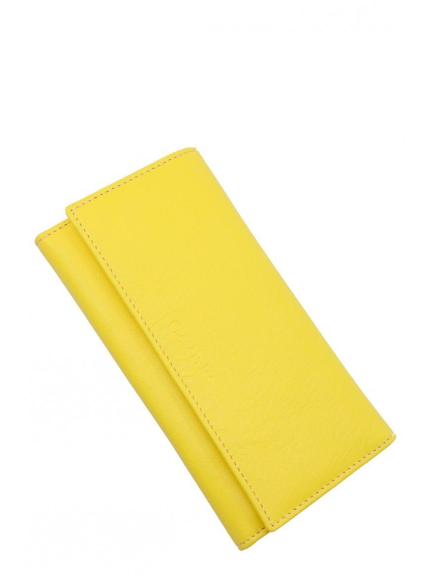 Carteira envelope em pele
