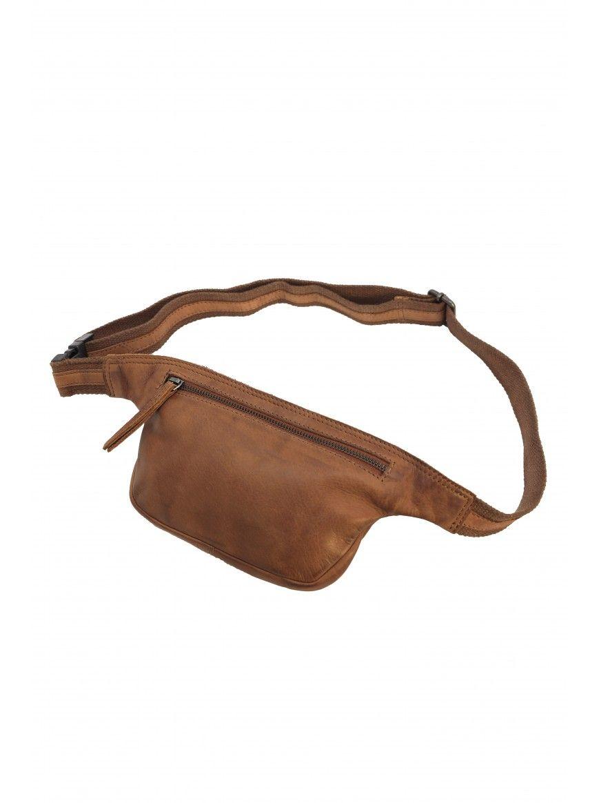 Bolsa de cintura em pele