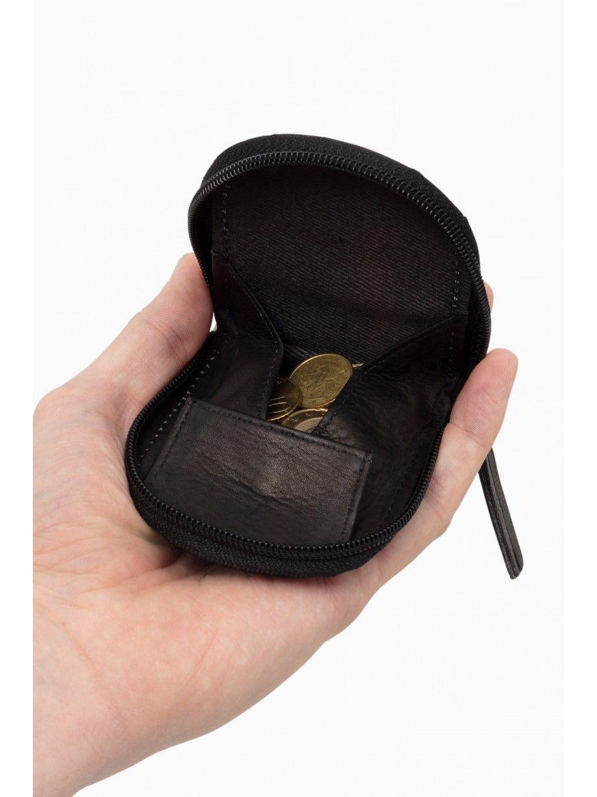 Porta-moedas em pele