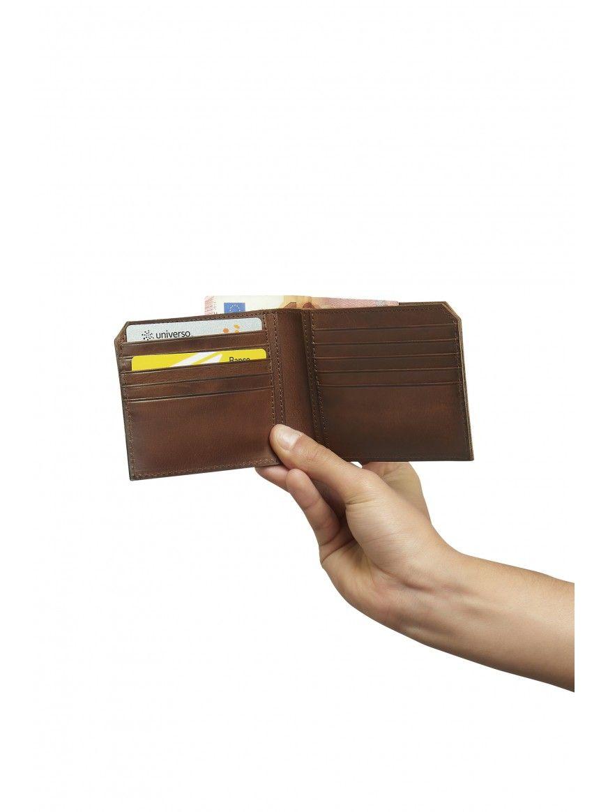 Porta-cartões em pele